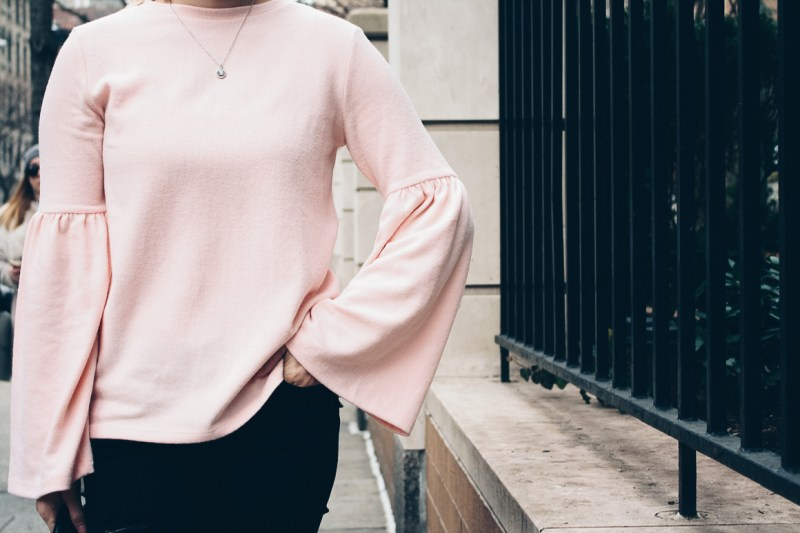 Zara-Bell-Sleeve-blush-Sweater-NNB