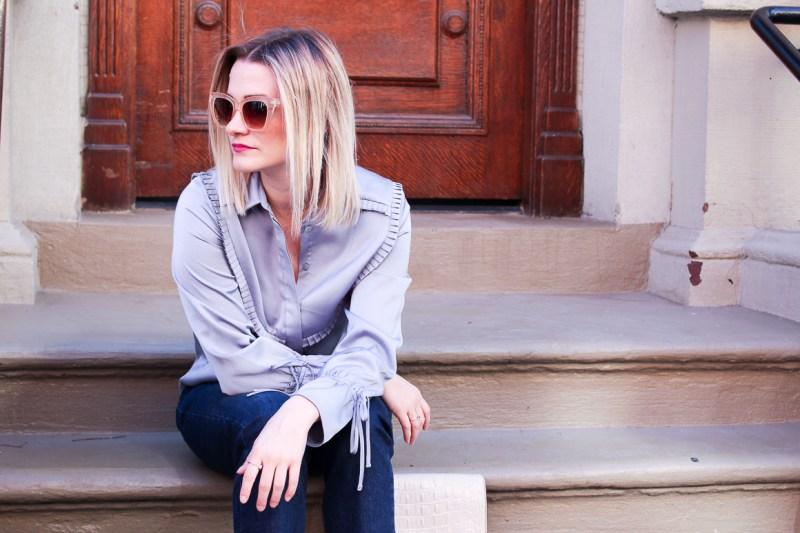 Not-Necessarily-Blonde-Satin-Button-Top-Topshop