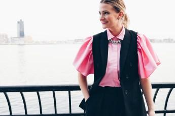 Pink Ruffle Sleeve Top Zara