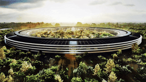 "What Apple's new ""Spaceship"" Campus will look like."