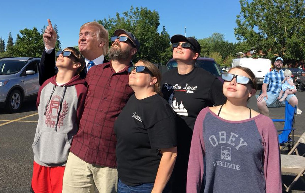 Looking at the eclipse