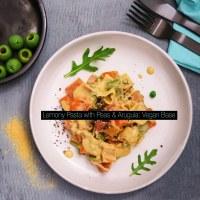 Lemony Pasta with Peas & Arugula {Menu 4: Peas & Love}