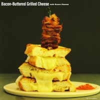 Bacon-Buttered Grilled Cheese with Bacon Skewer (Menu 5, Recipe 2)