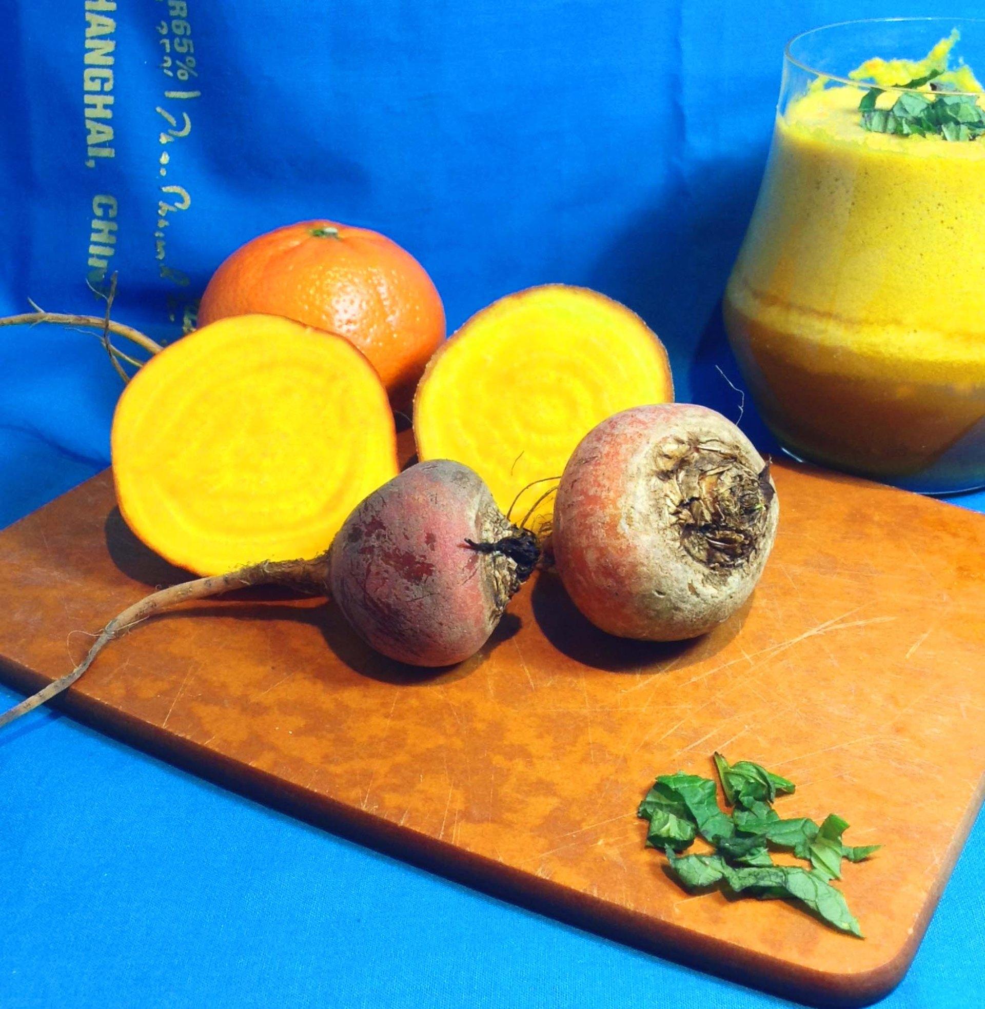 Golden Beet, Tangerine, and Mint Juice