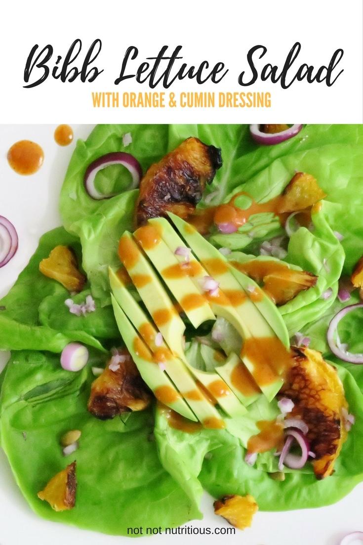Bibb Lettuce Salad with Orange and Cumin Dressing