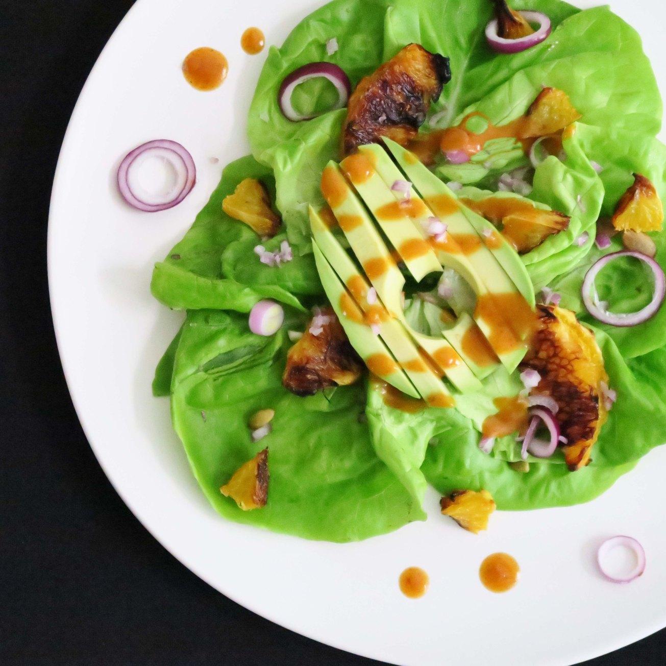 bibb lettuce with orange cumin dressing_IMG_1122