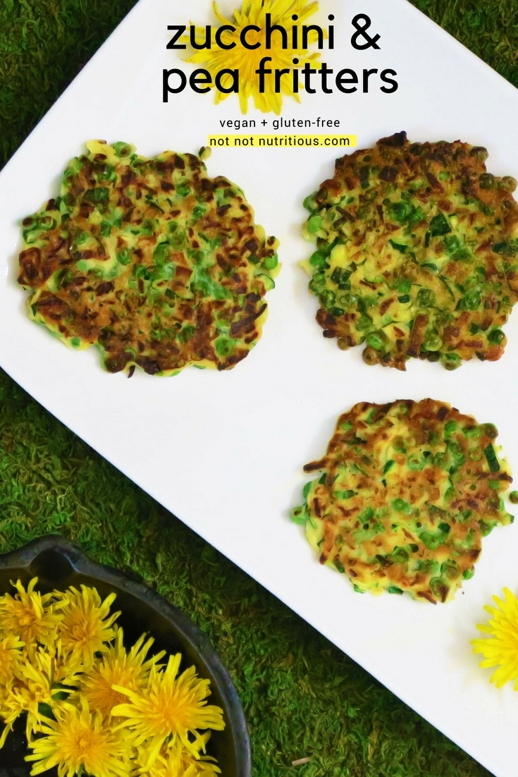 zucchini & pea fritters
