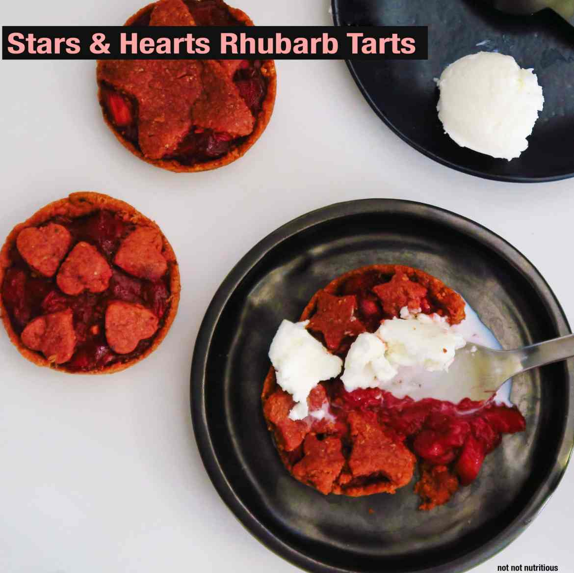 Rhubarb Tarts - Easily made either vegan or vegetarian