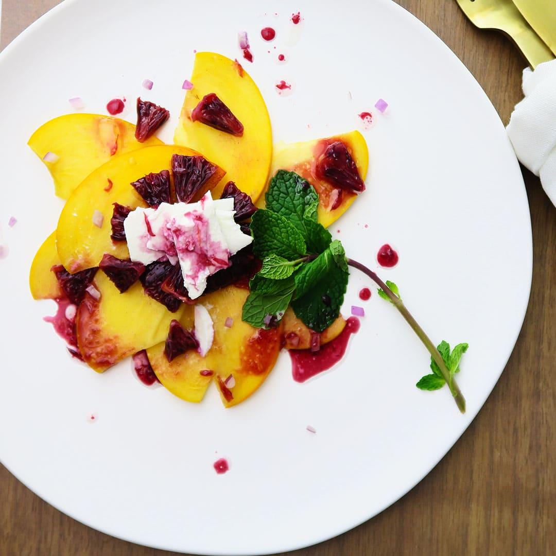 Blood Orange Breakfast Salad recipe, the messy version! Easily made vegan or vegetarian