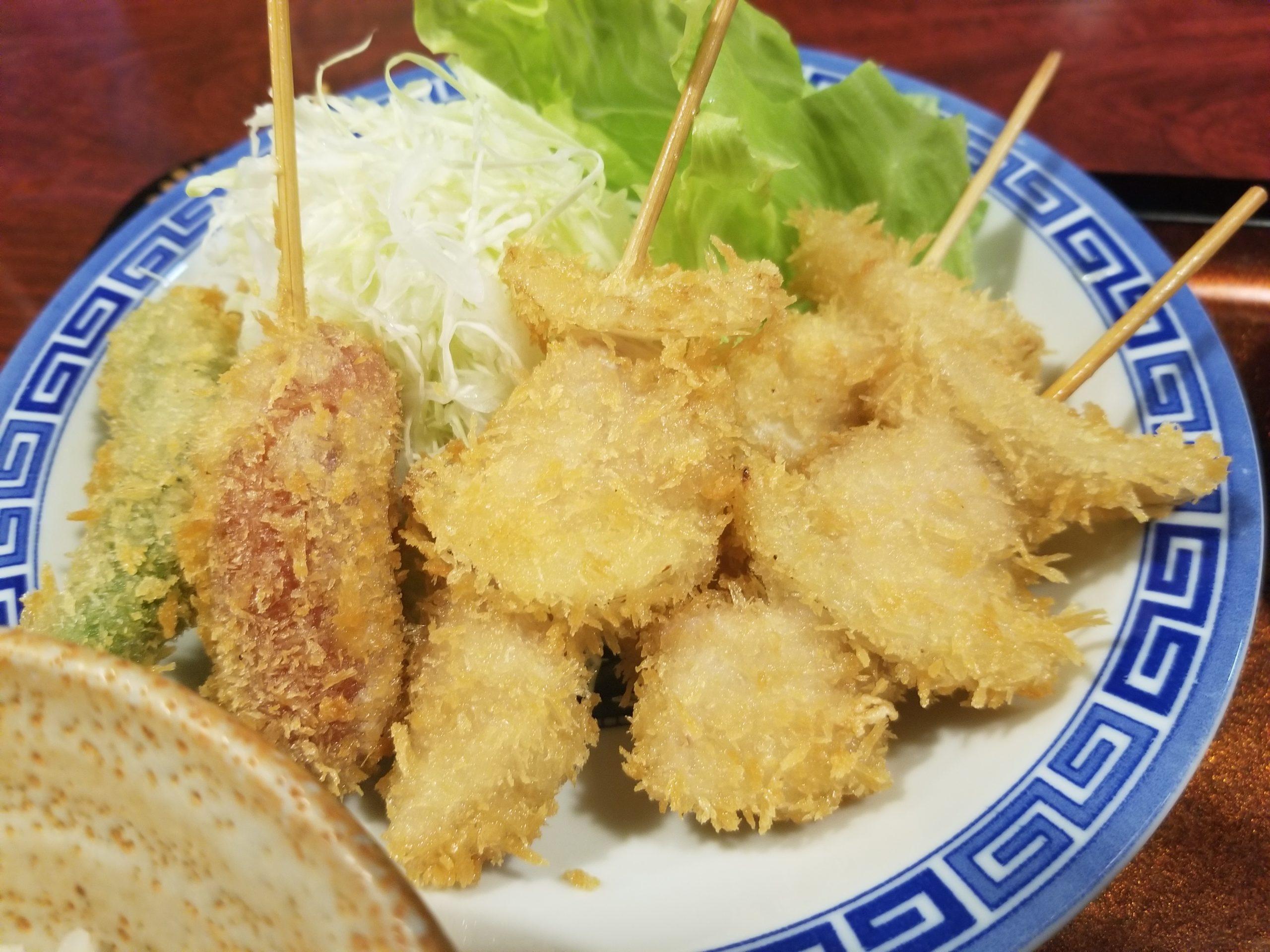 「串かつ草間(くさま)」でワンコインで格別に美味しい串カツランチ定食!【七尾市】