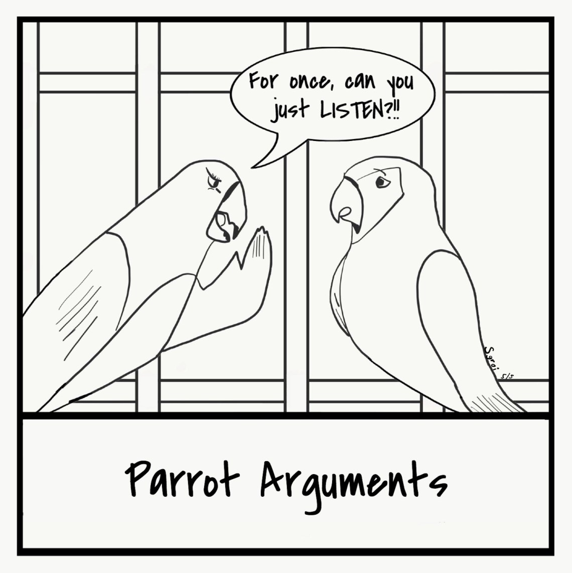 Parrot Comic Finished
