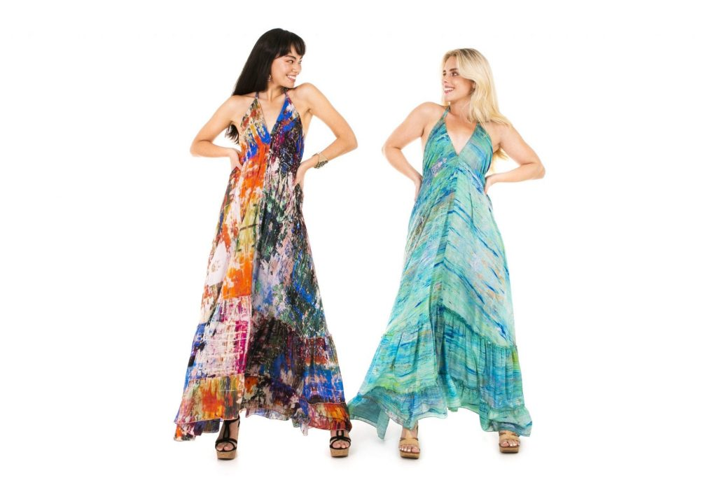 Long dresses 'Impression' and ' Japanese Garden'