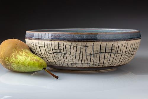 Fruit bowl in stoneware