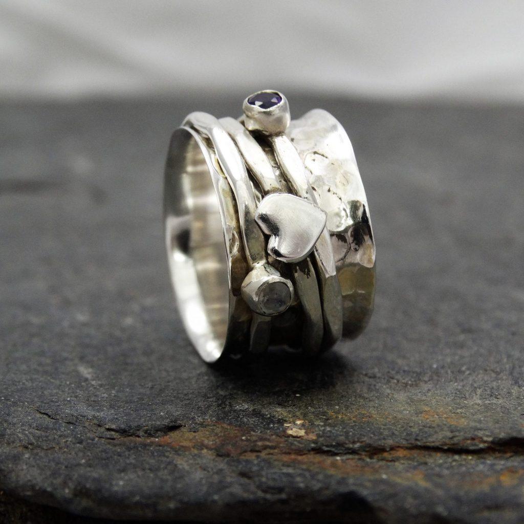 Stone Set Spinning Ring