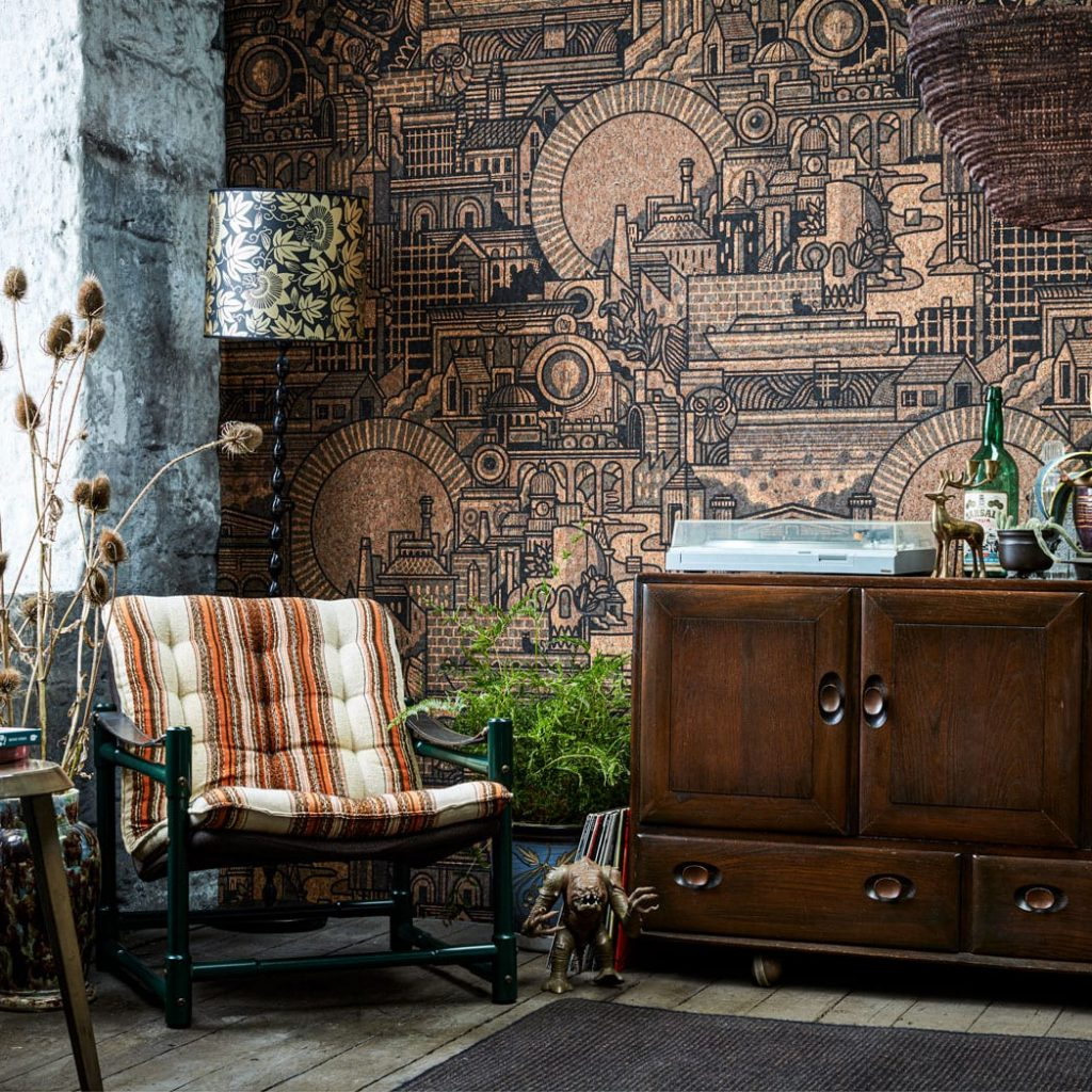 Real cork wallpaper and other unique designs