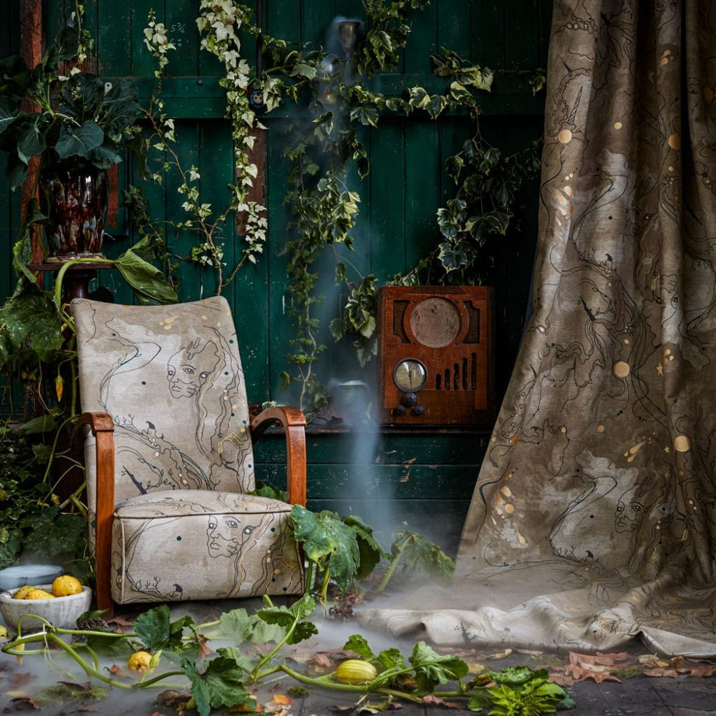 Magical fabrics for upholstery and curtains