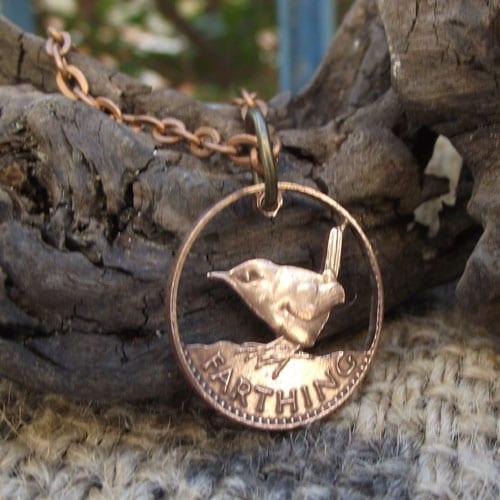 Jenny Wren on a Bronze Farthing