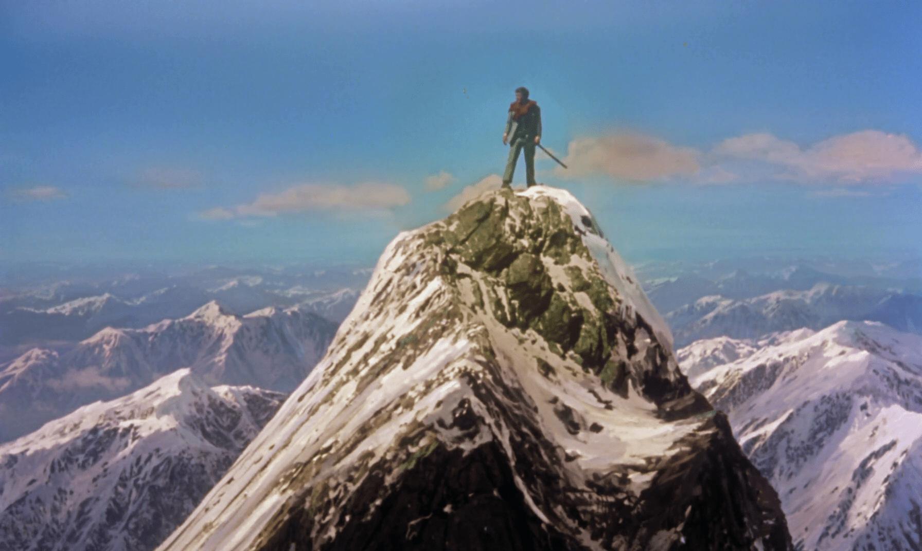 Resultado de imagen de man on the top of a mountain