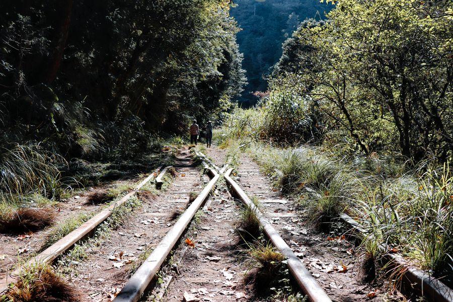 隧道前鐵軌