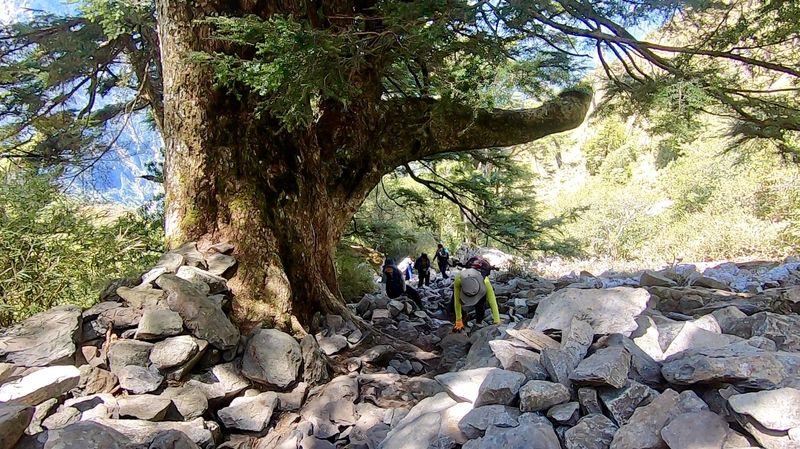 玉山前峰石瀑區