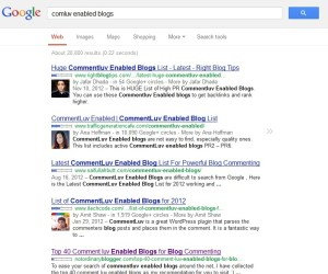 comluv enabled blogs google search