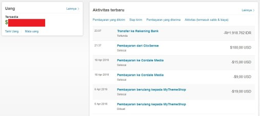 Cara Transfer Uang Paypal ke Rekening Bank di Indonesia 10