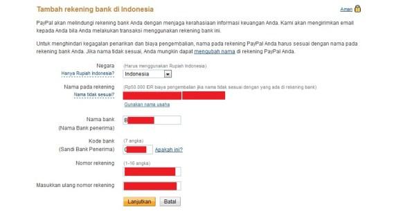 Cara Transfer Uang Paypal ke Rekening Bank di Indonesia 5