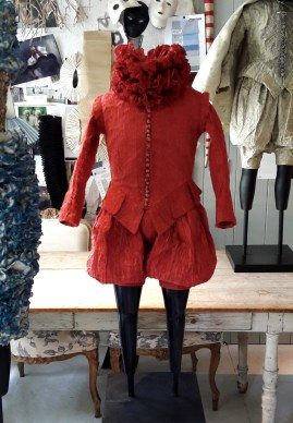 Miniature Shakespeare costumes on display at Garden 1