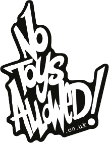 No Toys Allowed logo sticker