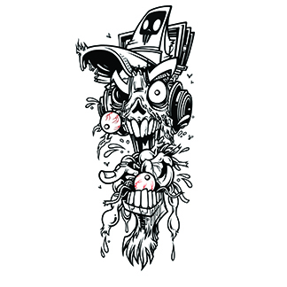Small zombie street art image