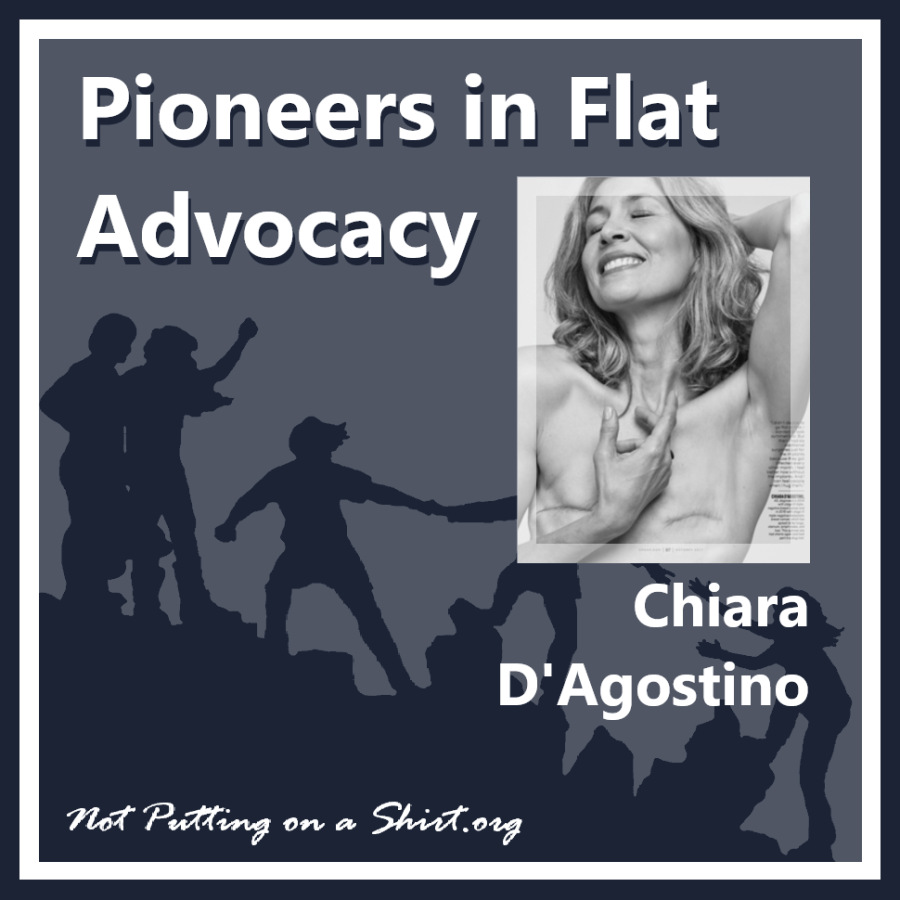 Infographic of blog series Pioneers in Flat Advocacy - aesthetic flat closure public figures - model Chiara D'Agostino