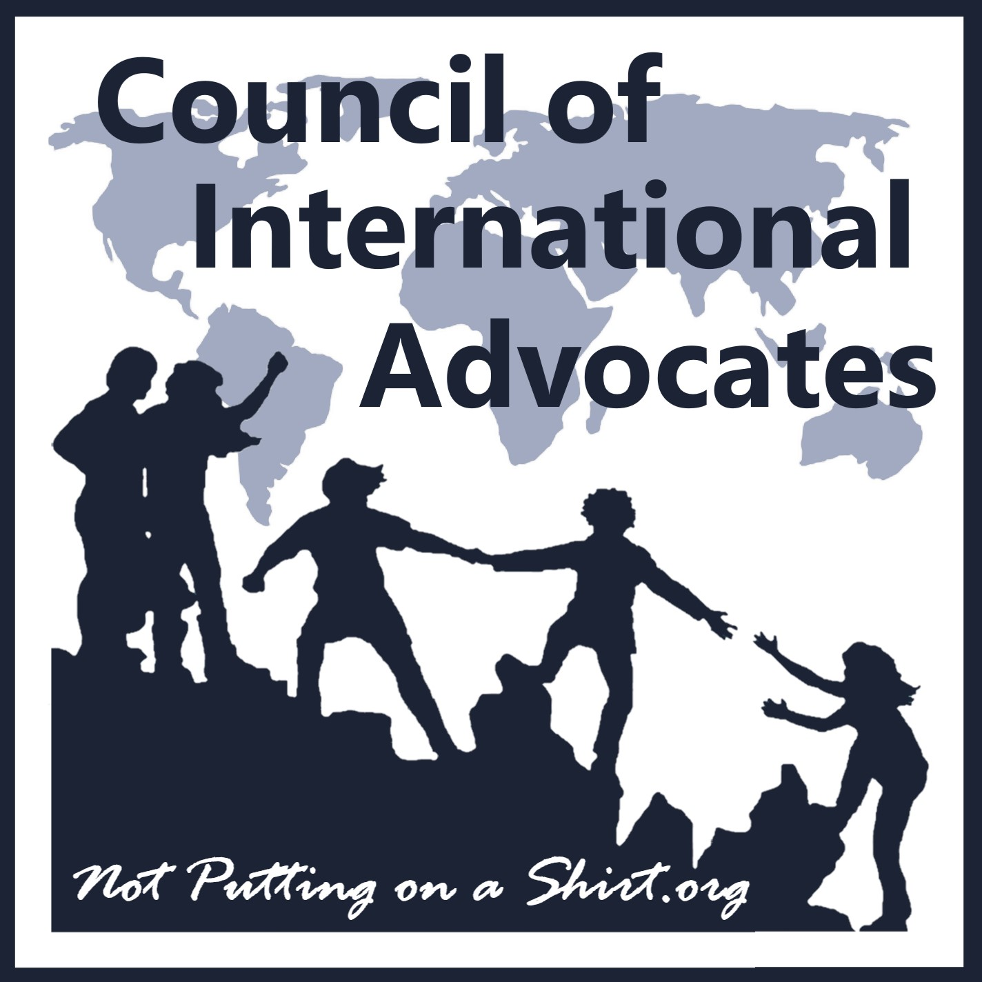 Infographic Council of International Advocates aesthetic flat closure global flat advocacy movement