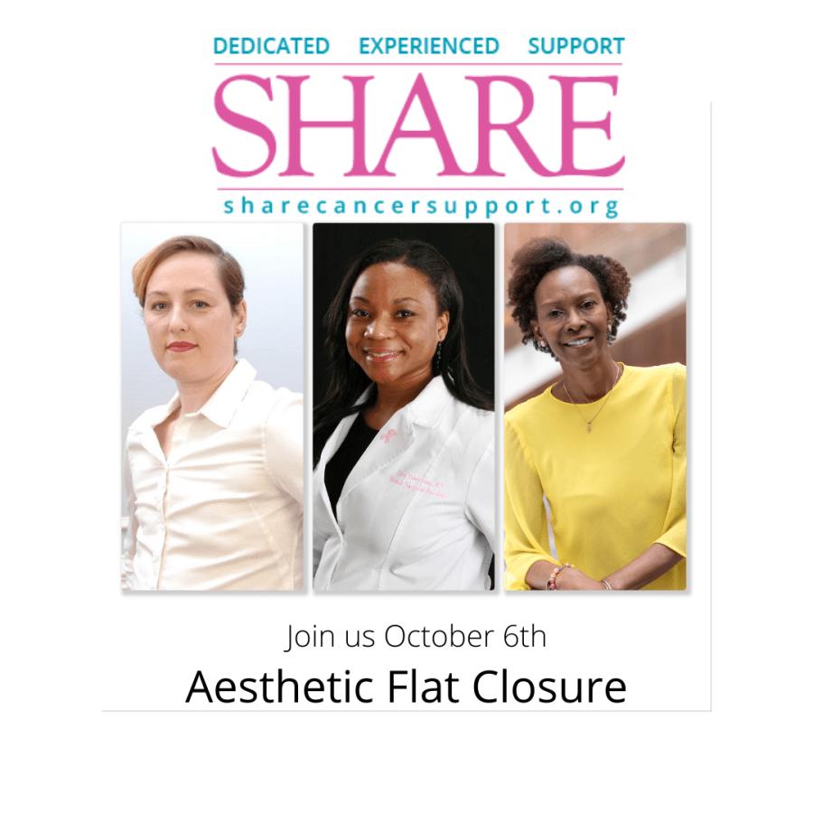 Aesthetic flat closure advocacy SHARE Kim Bowles Jersi Baker Dr. Yara Robertson