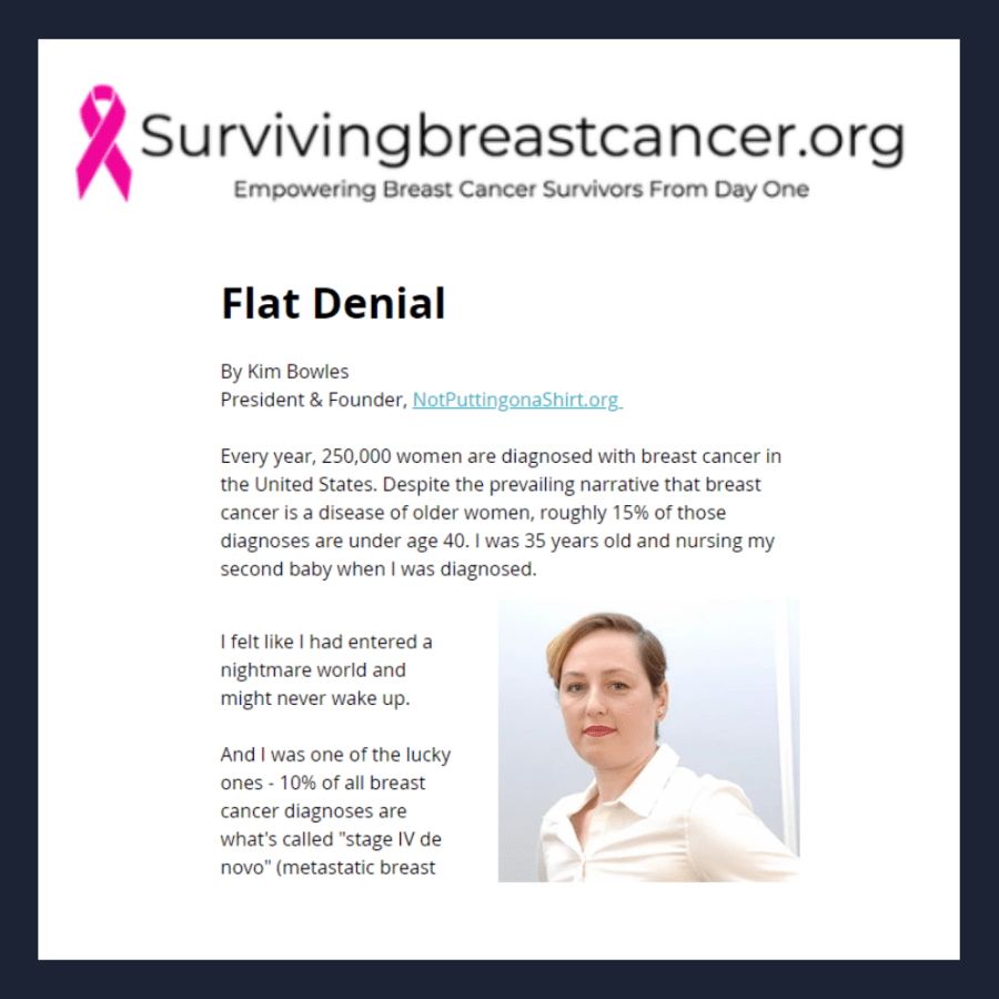 Flat denial - Kimberly Bowles tells her story - aesthetic flat closure advocacy to put flat on the menu