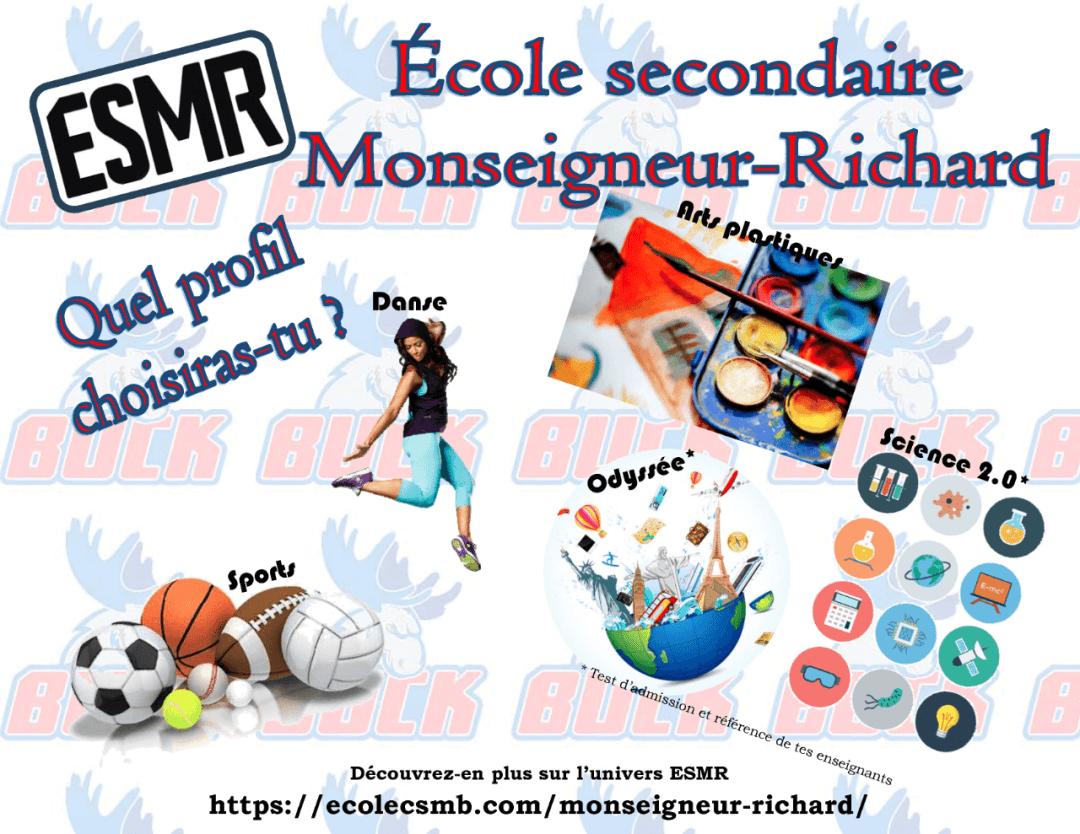 Publicité pour l'école secondaire Monseigneur-Richard