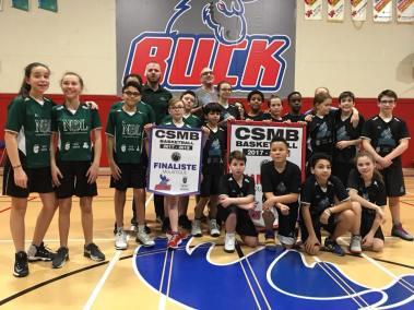 Rhinos - champions Basket-ball moustique - Séries élimatoires mini-Buck janvier 2018