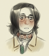 Leash and Collar but also long hair?