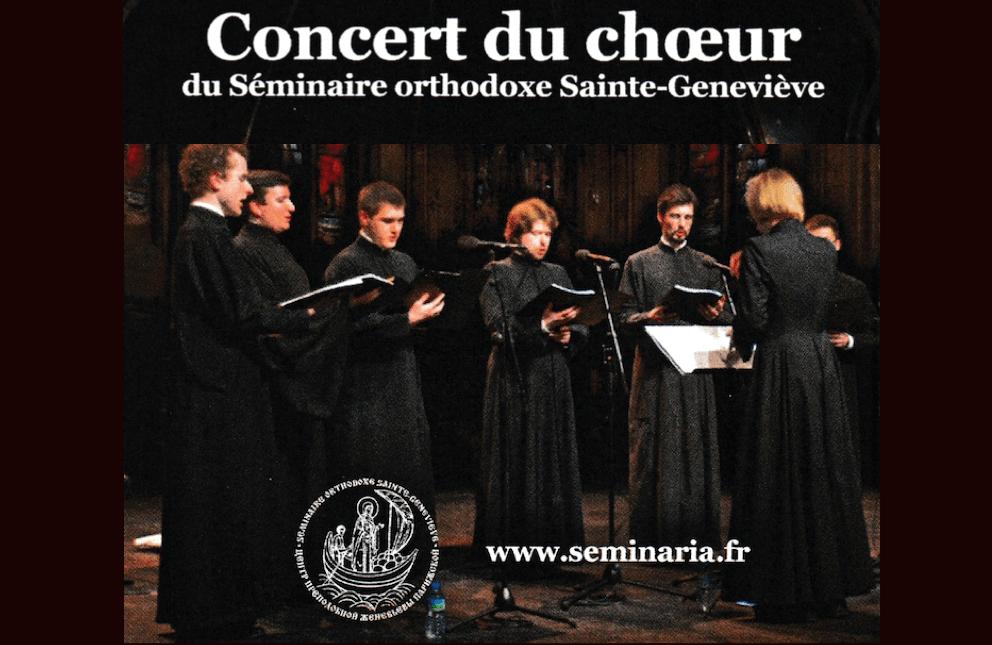 Concert «Choeur du Séminaire orthodoxe Saint-Geneviève» le samedi 28 avril à 19h30 à Saint-Genès-les-Carmes