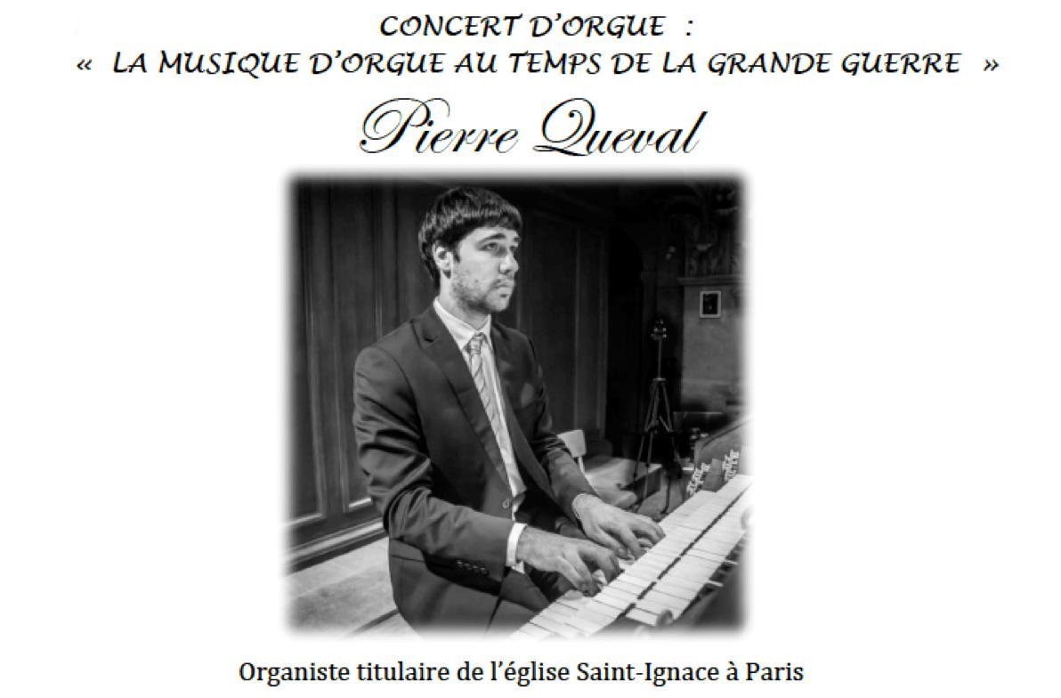 Dimanche 22 avril : concert « La musique d'orgue au temps de la Grande Guerre » à la Cathédrale