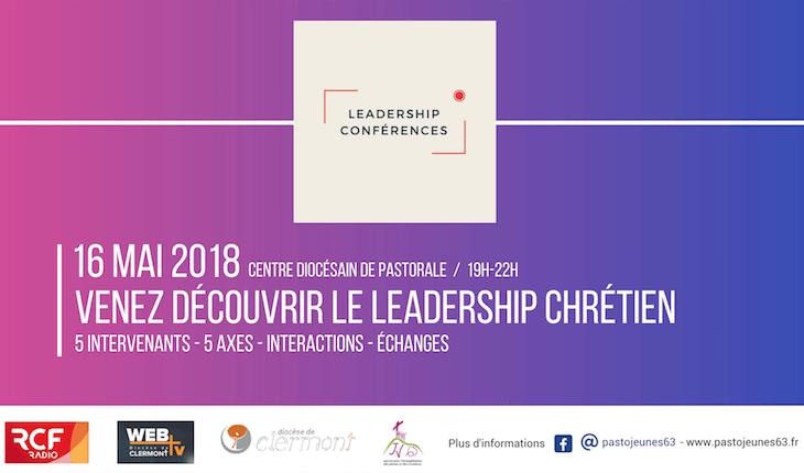 Soirée « Leadership conférences »  le mercredi 16 mai de 19h à 22h au Centre Diocésain de Pastorale