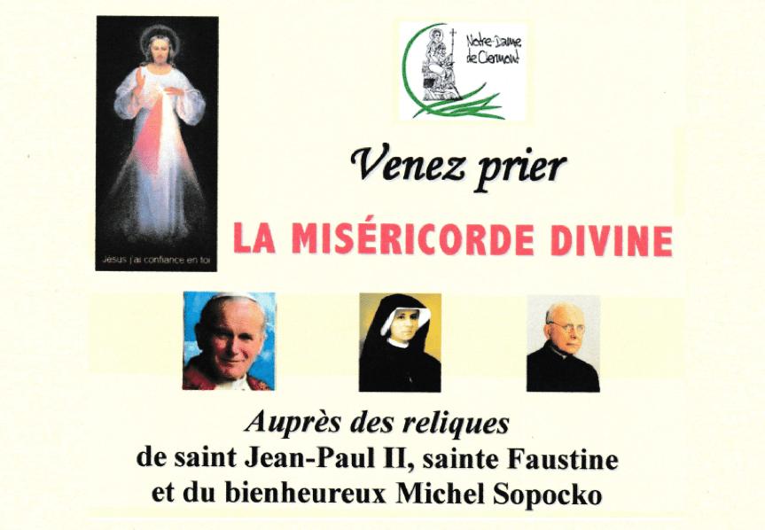 Venez prier la Miséricorde Divine le samedi 20 octobre 2018 à 15h00 à Saint-Pierre-les-Minimes