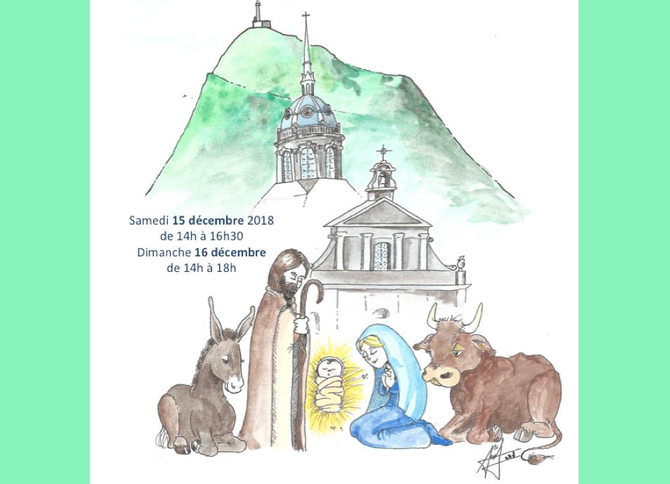 Exposition de crèches de Noël les 15 et 16 décembre 2018 à l'église Saint-Pierre-les-Minimes