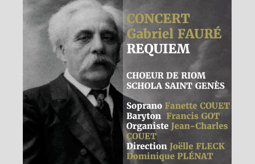 Concert « Requiem de Fauré » le vendredi 10 mai 2019 à 20h30 à Saint-Genès-les-Carmes