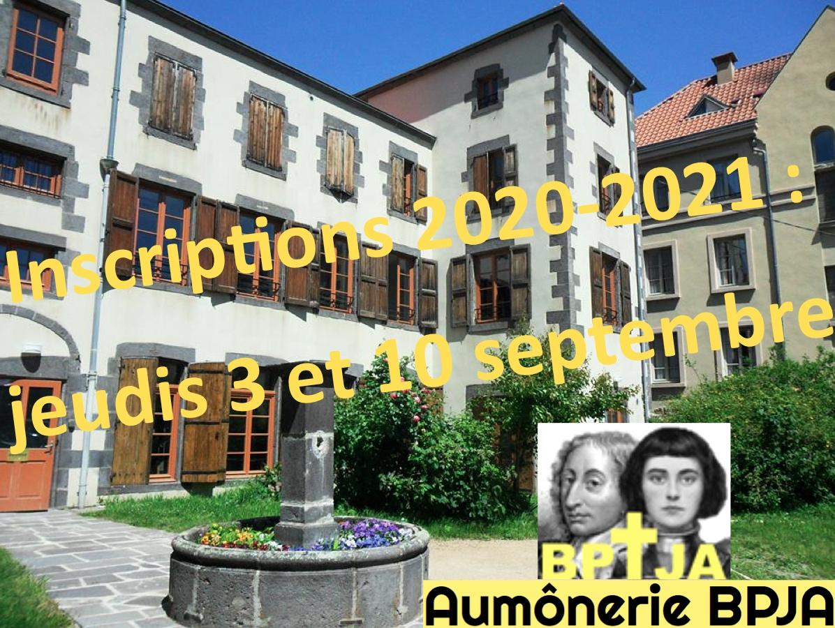 Aumônerie Blaise Pascal – Jeanne d'Arc : 2e jour pour les inscriptions 2020-2021 le 10 septembre 2020