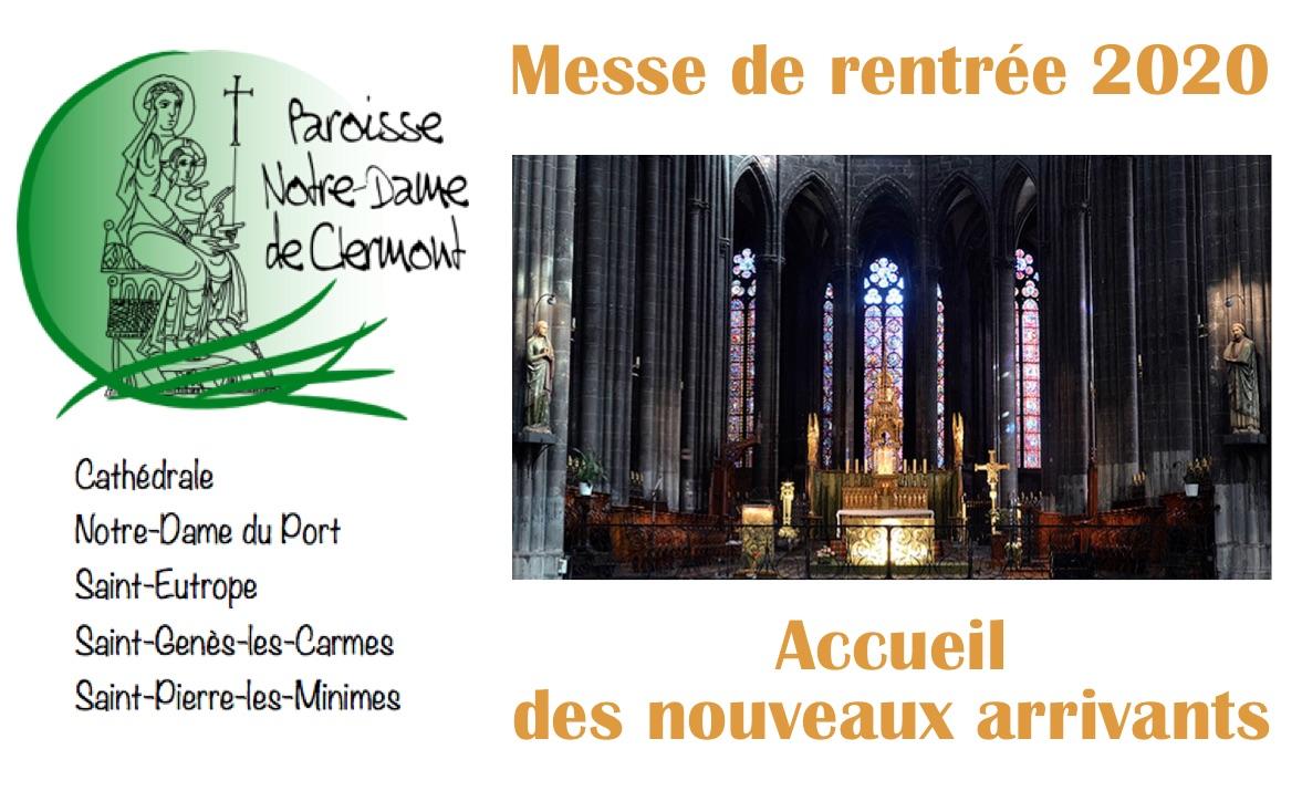 Dimanche 27 septembre 2020 à 10h : messe de rentrée de la paroisse et accueil des nouveaux arrivants