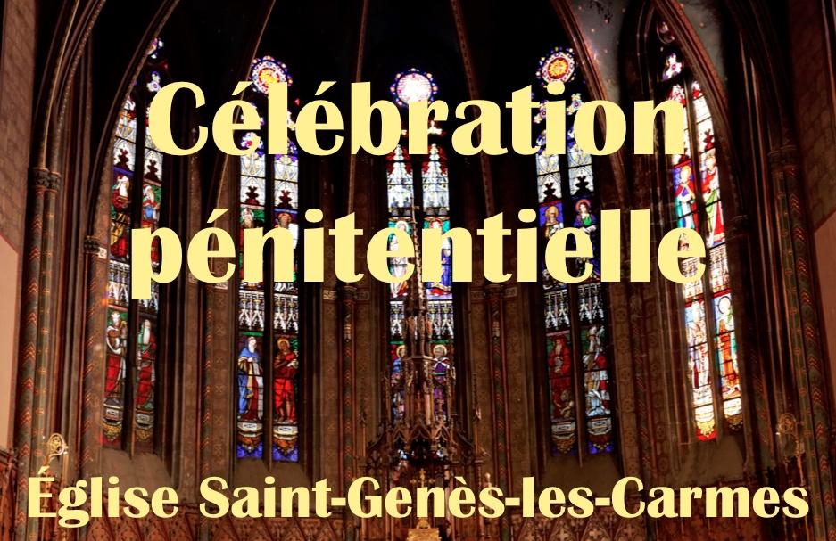 Célébration pénitentielle le lundi 29 mars 2021 à Saint-Genès-les-Carmes à 17 h 30