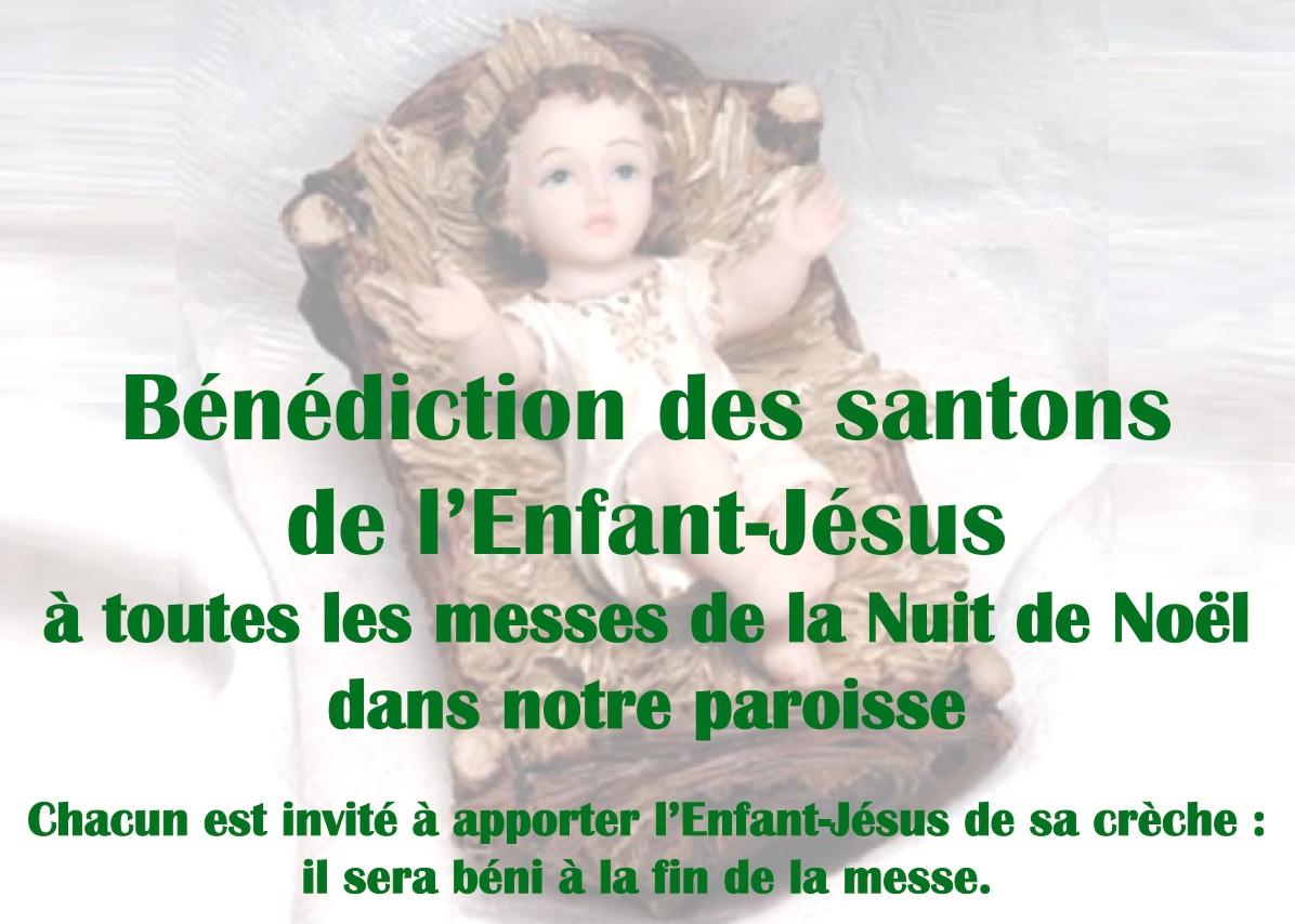 Bénédiction de « l'Enfant-Jésus » qui sera placé dans votre crèche