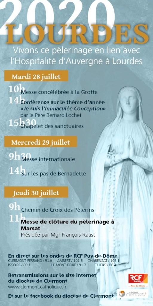 Programme Lourdes 2020