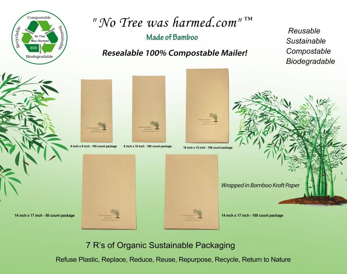 Resealable Bamboo Kraft Mailers