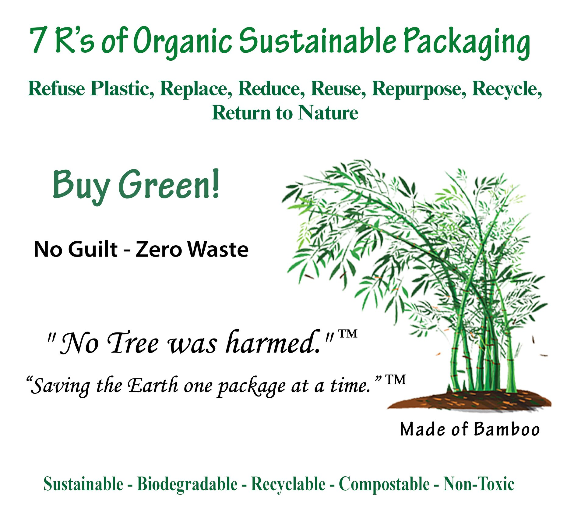 7 R's of Organic Sustainable Packaging.